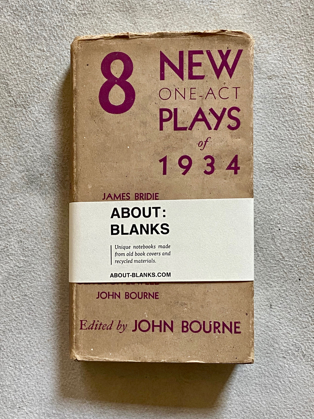 """8 New One-Act Plays of 1934"" Vintage Blank Book"