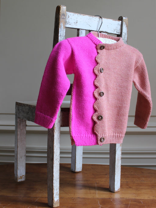 Cabbages & Kings Pink Zig Zag Cardigan  (1 - 2 years)