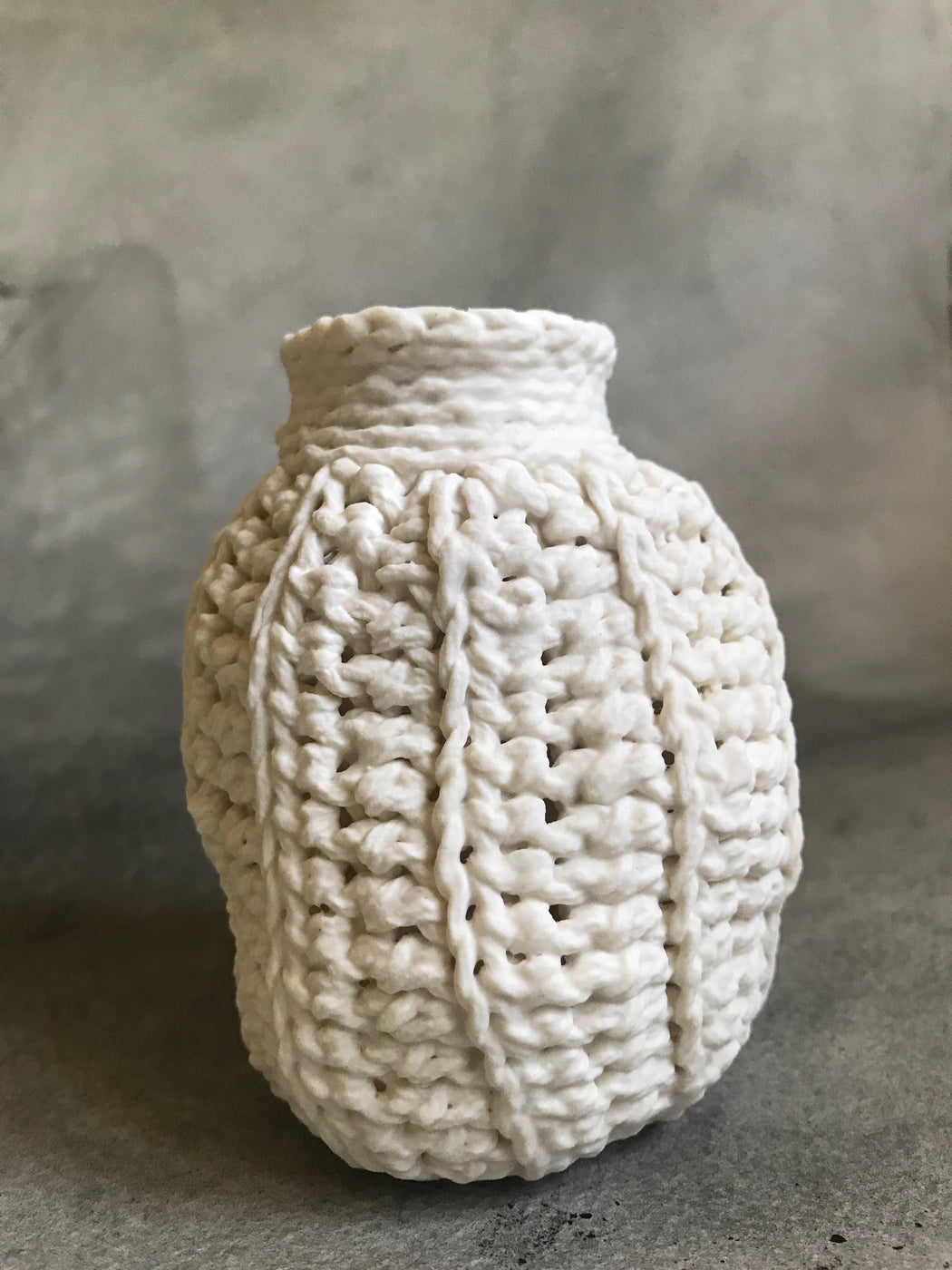 Lisa Belsky Ceramic Knit Bottle - Ribbed