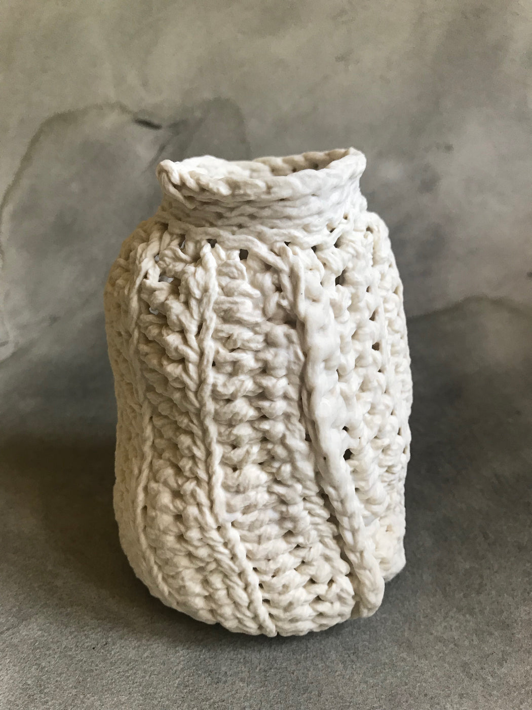 Lisa Belsky Ceramic Knit Bottle - Purl 2