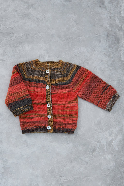 Debbie's Hand-Knit Baby Sweater -  Red Rover (6 - 12 months)