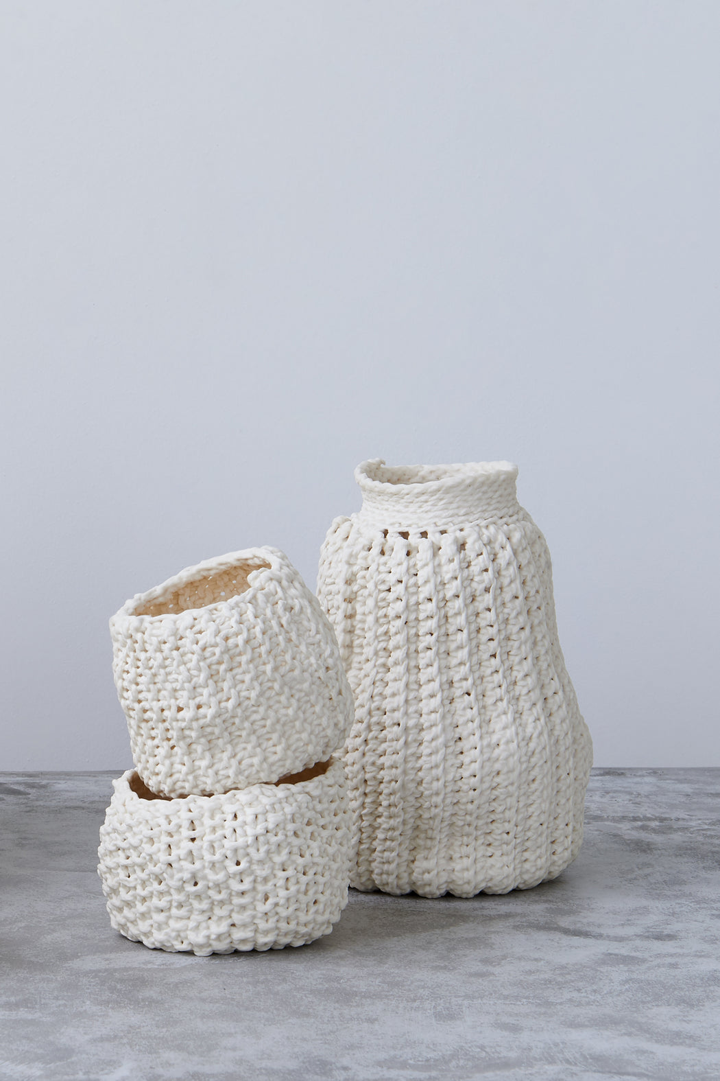 Lisa Belsky Ceramic Knit Vessel