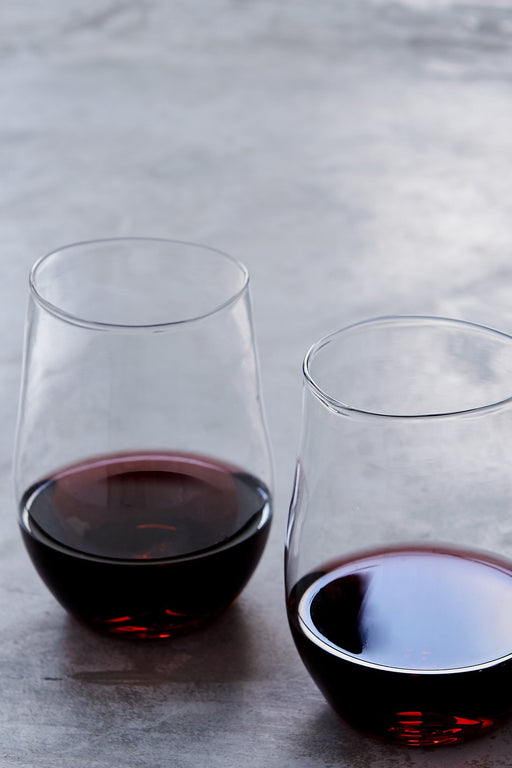 Malfatti Hand-Blown Red Wine Glasses - Pair