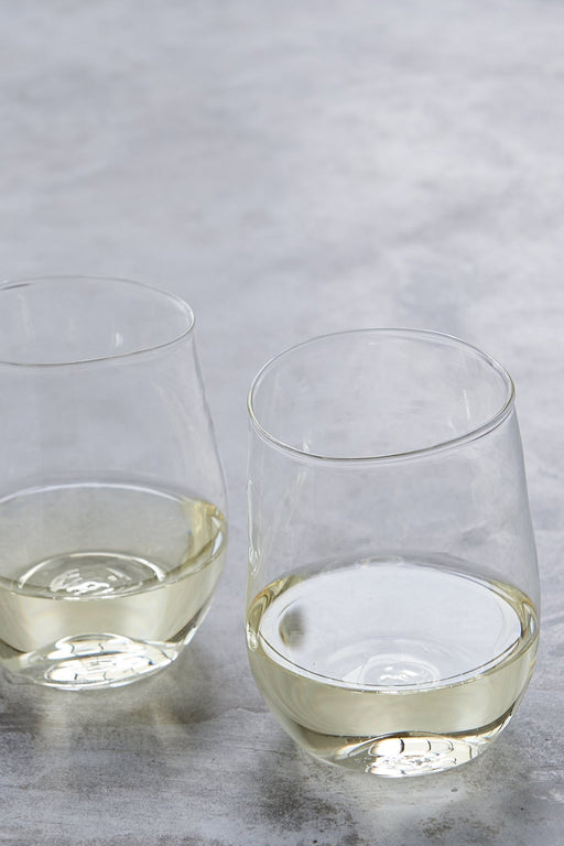 Malfatti Hand-Blown White Wine Glasses - Pair