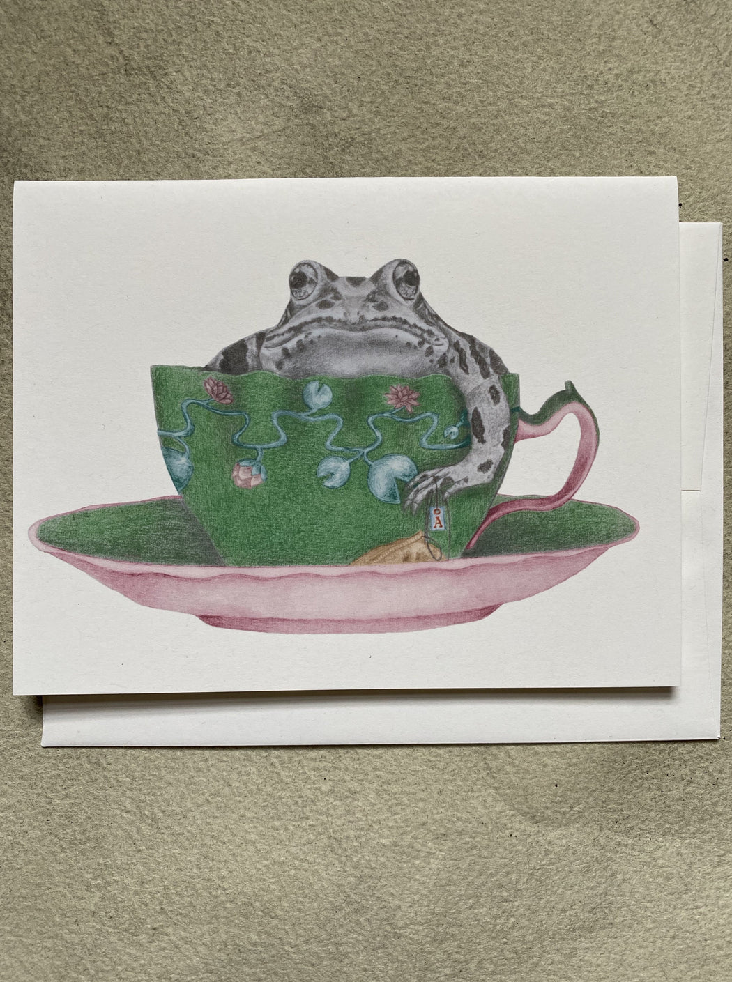 Frog in a Tea Cup Card