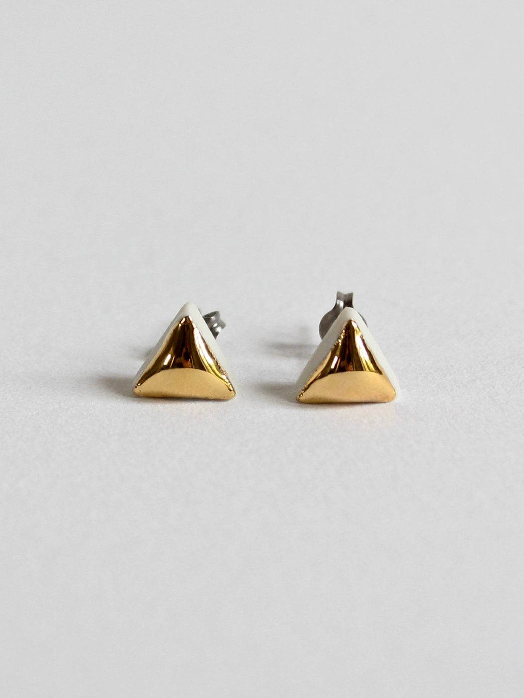 Ceramic Triangle Stud Earrings