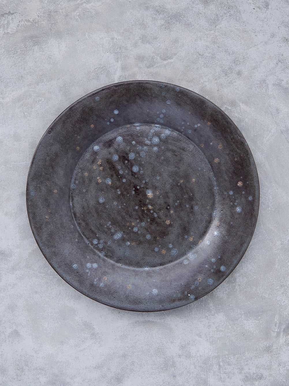 FD Pottery Pewter Drip Plate