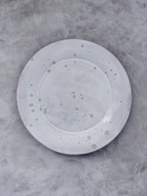 FD Pottery White Drip Plate
