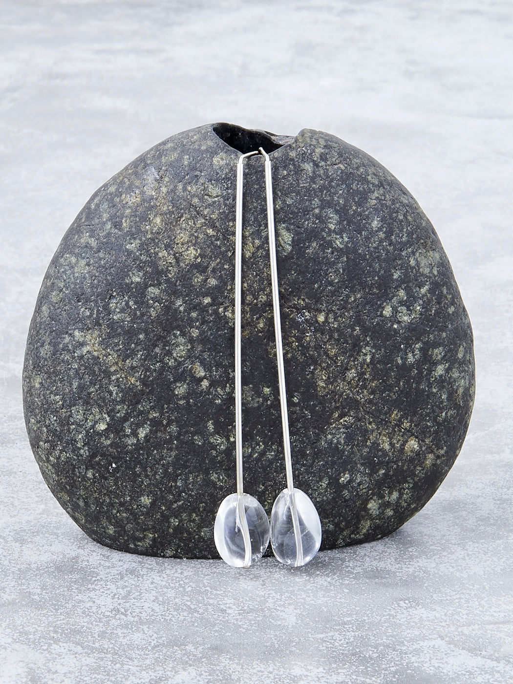 We Are Ancients Long Quartz Earrings