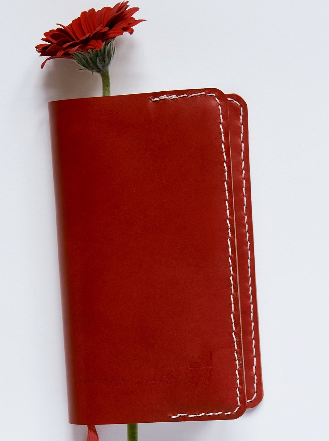 Red Leather Five-Year Journal