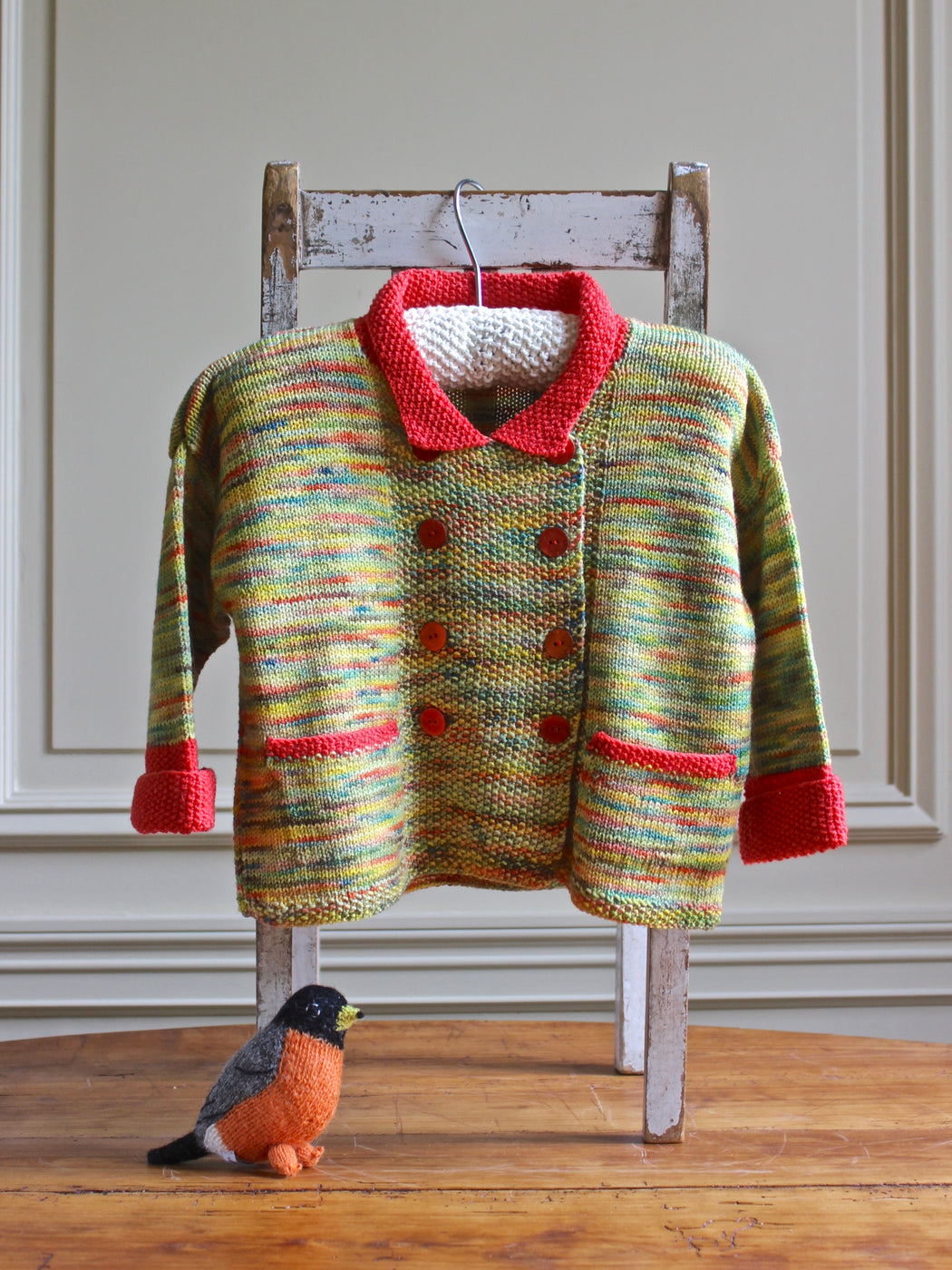 Aunt Debbie's Hand-Knit Sweater - (3 - 4 years)