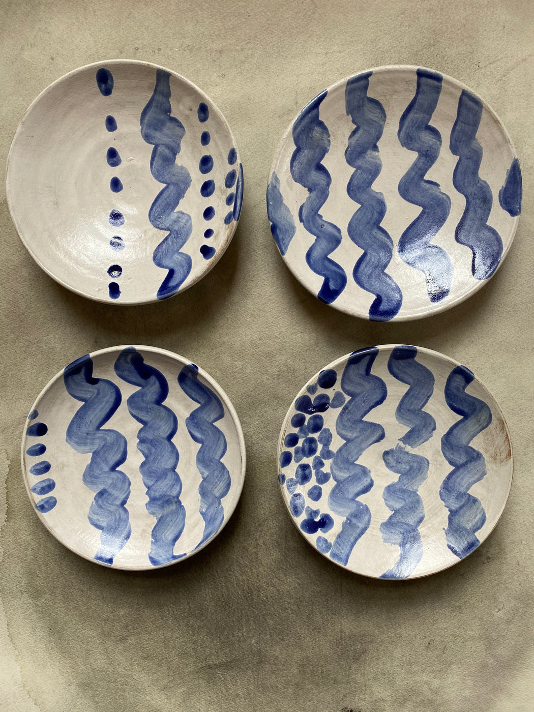 FD Pottery Footed Dessert Bowls