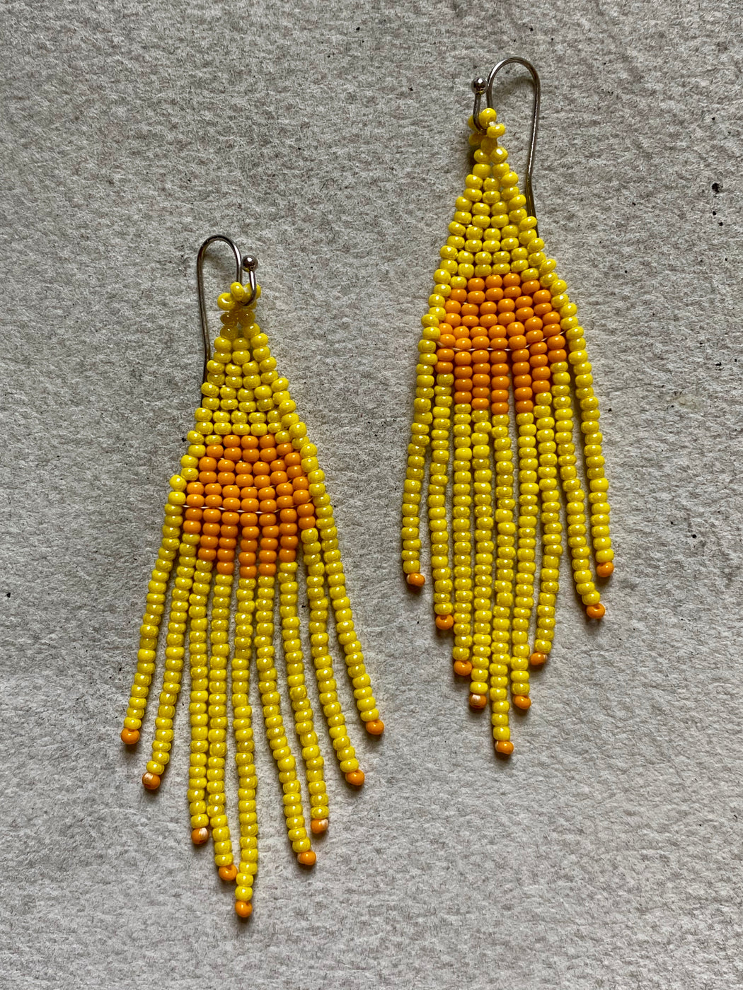 Beaded Drop Earrings - Harvest Moon