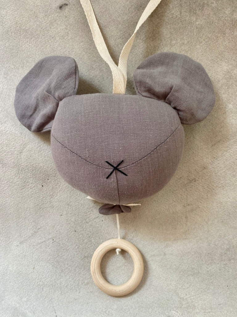Grey Mouse Lullaby Toy
