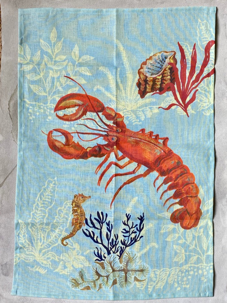 "Nathalie Lete ""Lobster"" Tea Towel"