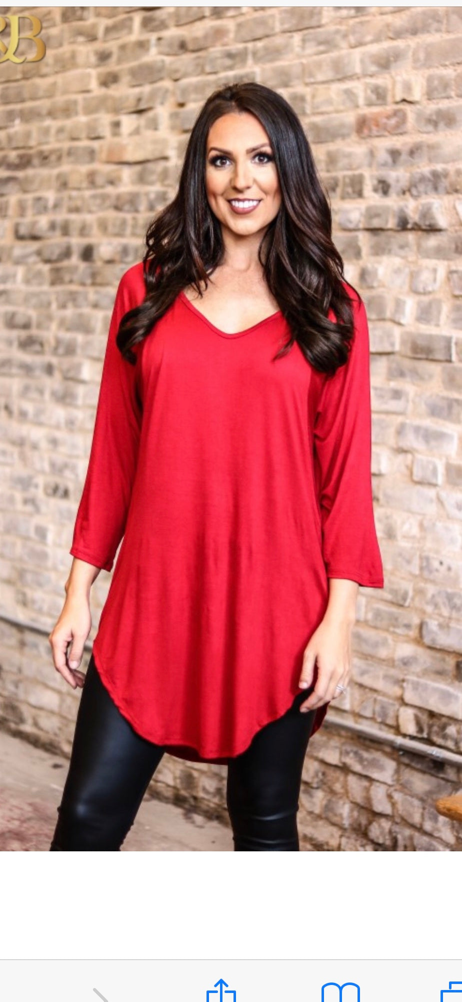 Red Tunic (Long Sleeve)