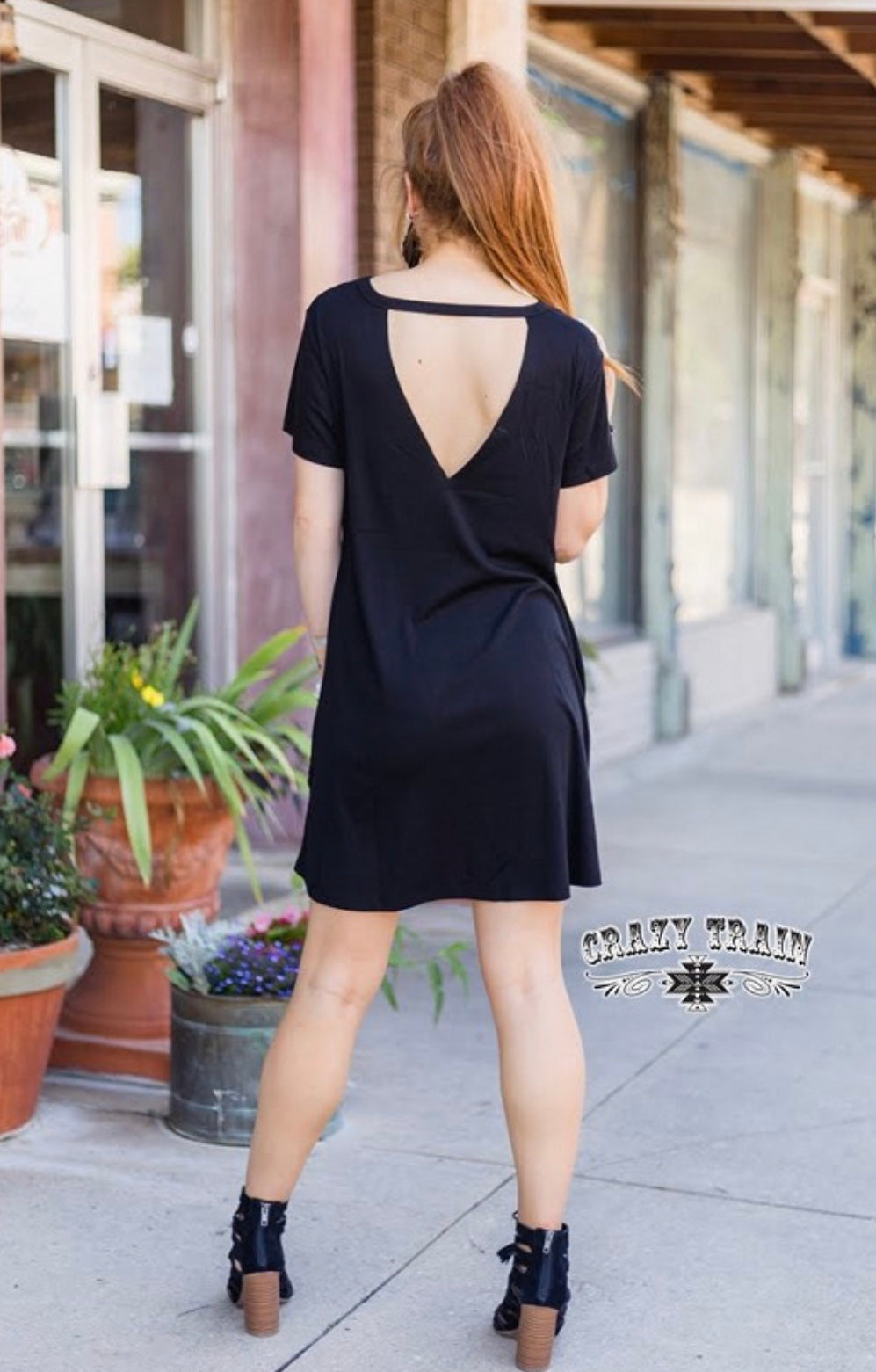 Black Throw Back Dress