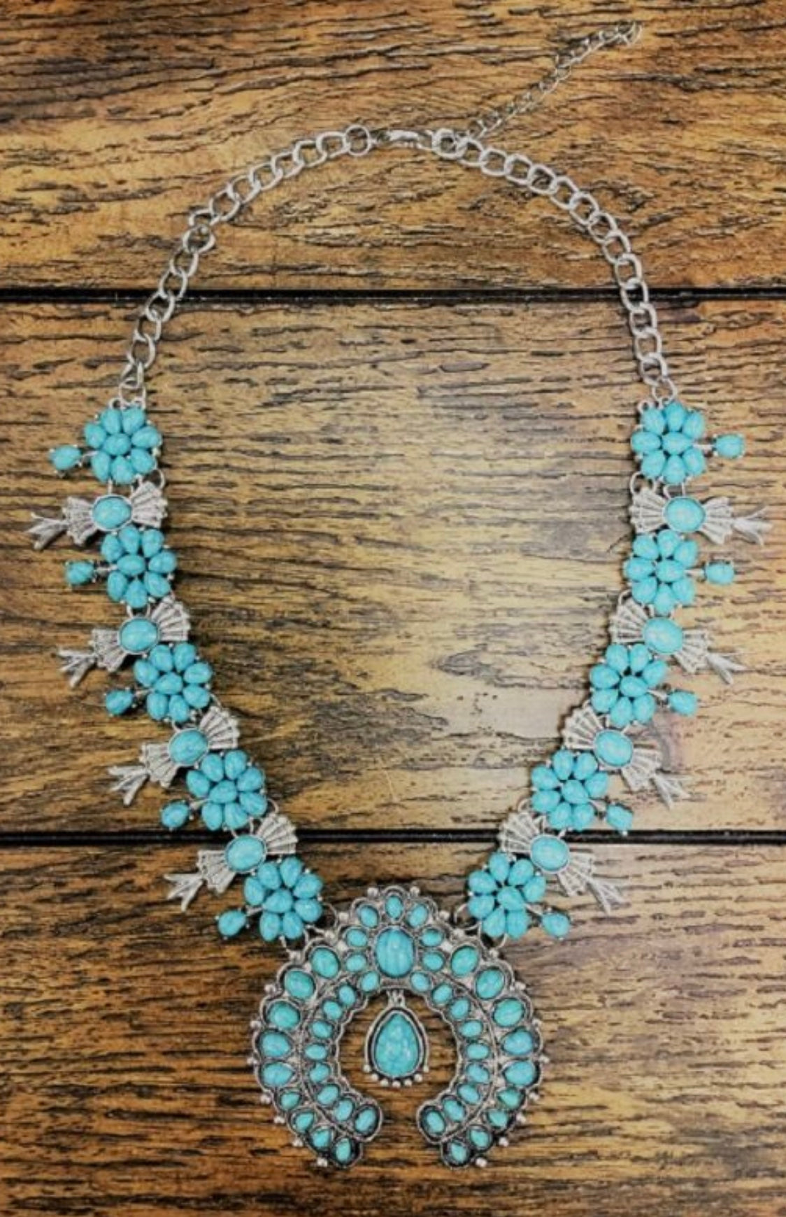 Chunky Turquoise Horseshoe Necklace
