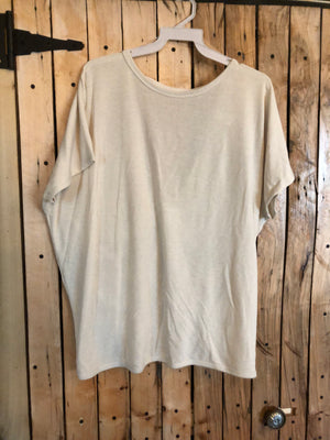 Cream Open Back Tee