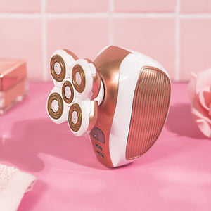 4D Automatic Shaver - RoseSkinCo - Rose Gold - Side View