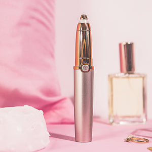 Precision Eyebrow Trimmer - RoseSkinCo - Front - Rose Gold