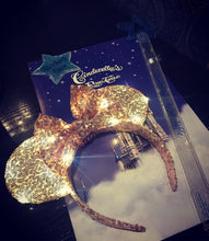 Load image into Gallery viewer, Rose Gold Sequin Ears - Handmade Sequin Mouse Ears Headband