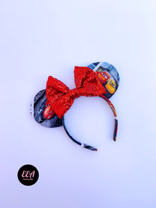 Ears Ever After, Disney Ears, Minnie Mouse Ears, Mickey Ears, Custom Mickey Ears, Mouse Ears, UK Disney Ears, Minnie Ears, Mickey Ears, Disney, Cars Ears, Lightening McQueen Mouse Ears