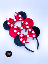 Load image into Gallery viewer, Ears Ever After, Disney Ears, Minnie Mouse Ears, Mickey Ears, Custom Mickey Ears, Mouse Ears, UK Disney Ears, Minnie Ears, Mickey Ears, Disney, Velvet Ears, Classic Velvet Ears, Classic Minnie Ears