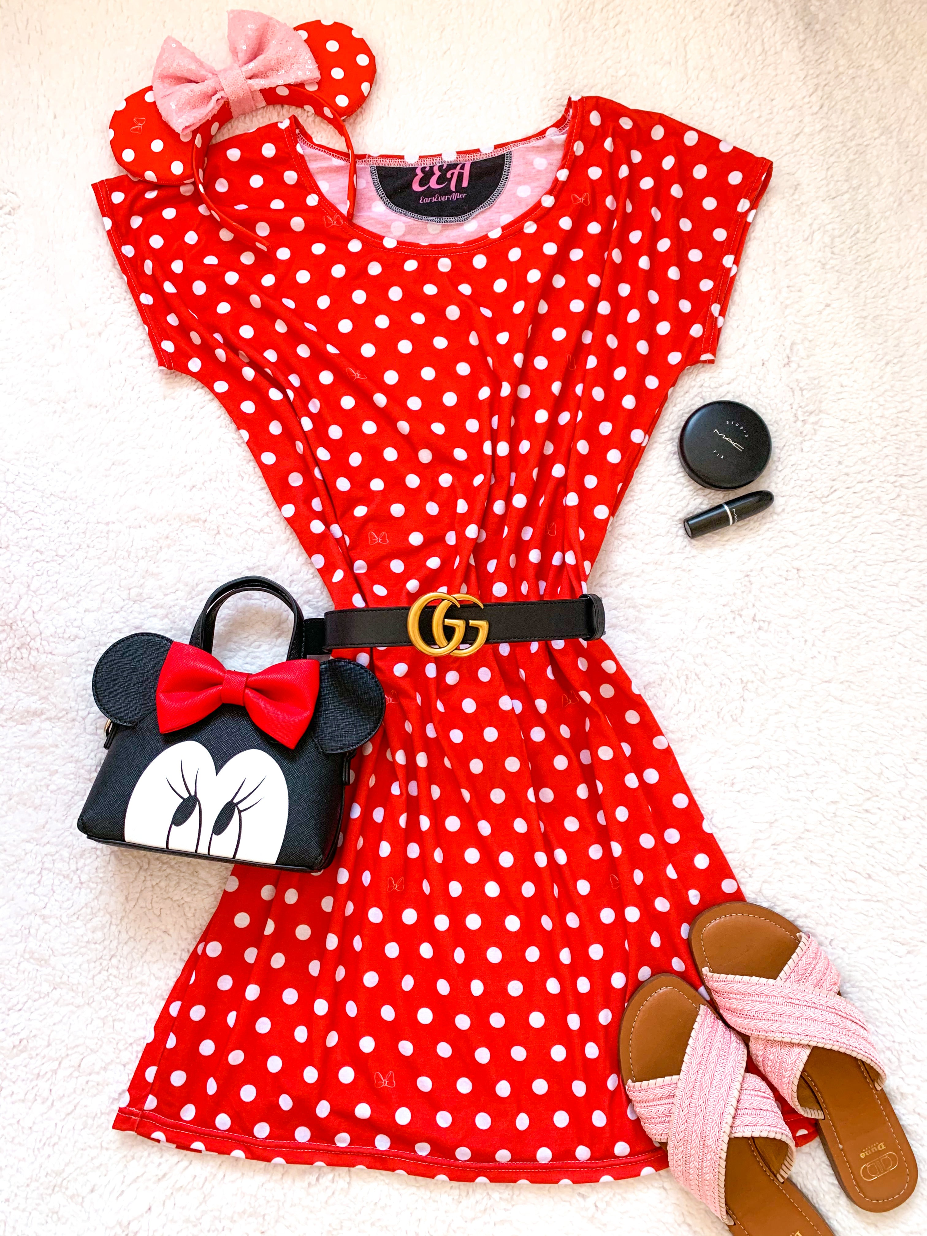 Red Polka Dot Mouse Dress Ladies