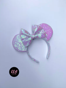 Unicorn Sequin Ears - Handmade Sequin Mouse Ears Headband