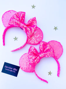 Pink Iridescent Sequin Ears