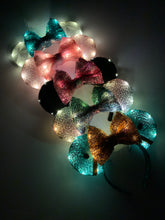 Load image into Gallery viewer, Light Up Ears Add On - Handmade Mouse Ears Headband