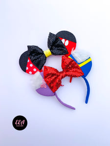 Ears Ever After, Disney Ears, Minnie Mouse Ears, Mickey Ears, Custom Mickey Ears, Mouse Ears, UK Disney Ears, Minnie Ears, Mickey Ears, Disney, Minnie and Mickey Ears, Donald and Daisy Ears
