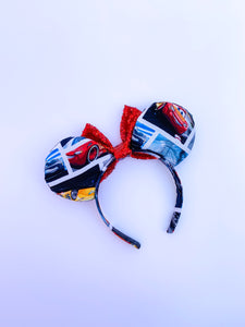 Lightening Racers Ears - Handmade Mouse Ears Headband