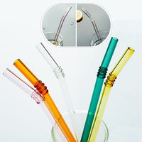 High Quality Reusable Clear Glass Straws