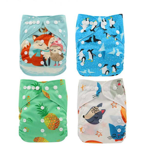 Cartoon Print, Washable Diapers