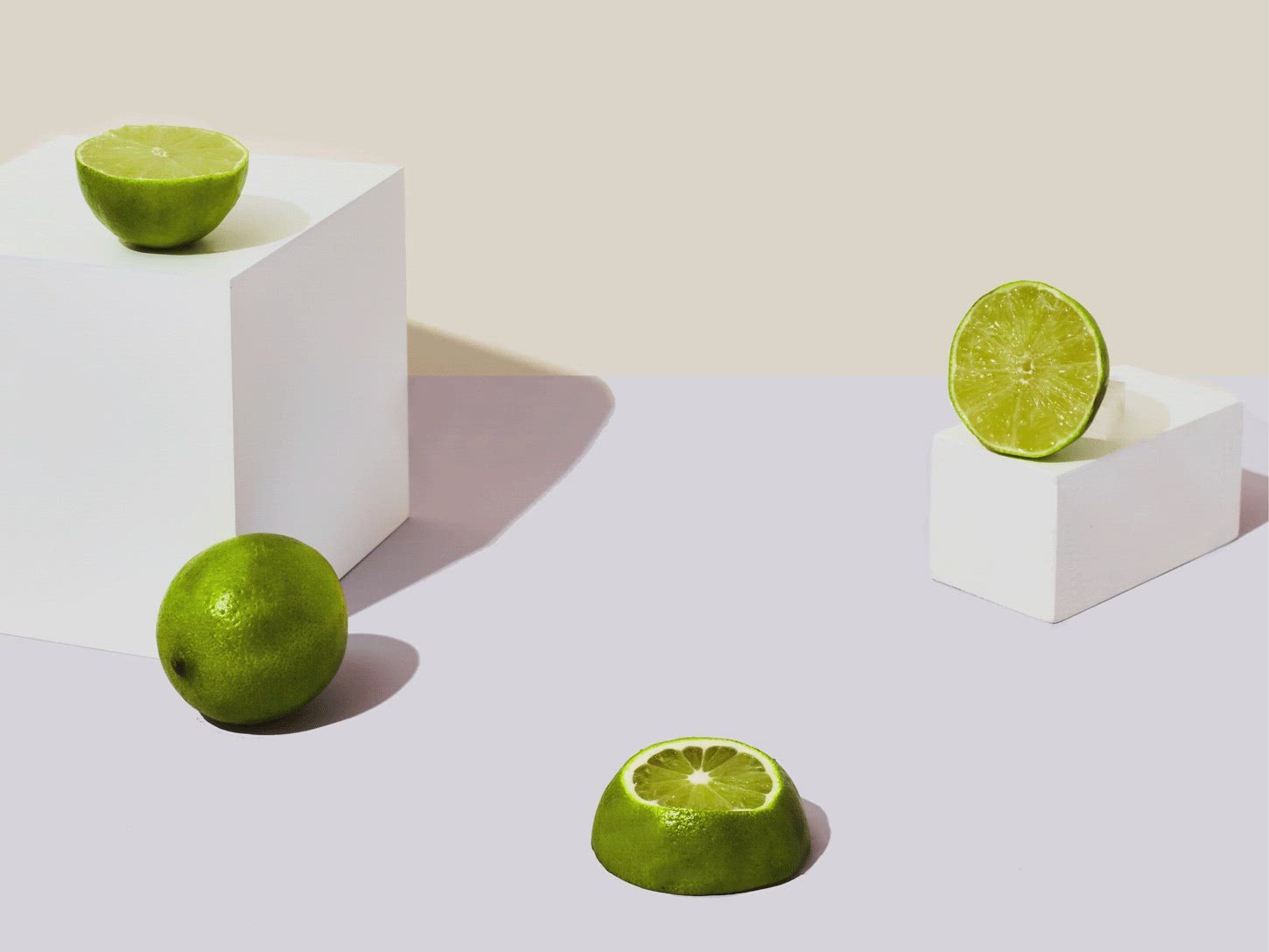photo of moving stacked limes