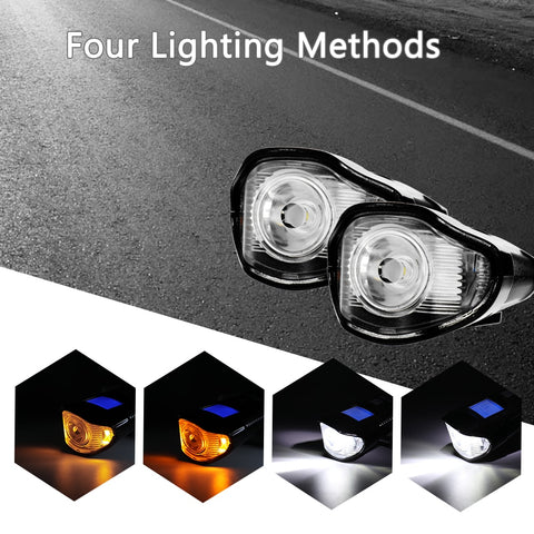 3in1 Waterproof Headlight For Bicycle, Horn, Light, Speedometer