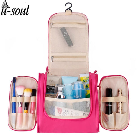 Travel Organizer with Hanging Hook | Cosmetic Bag | Toiletry Kit Storage Bag