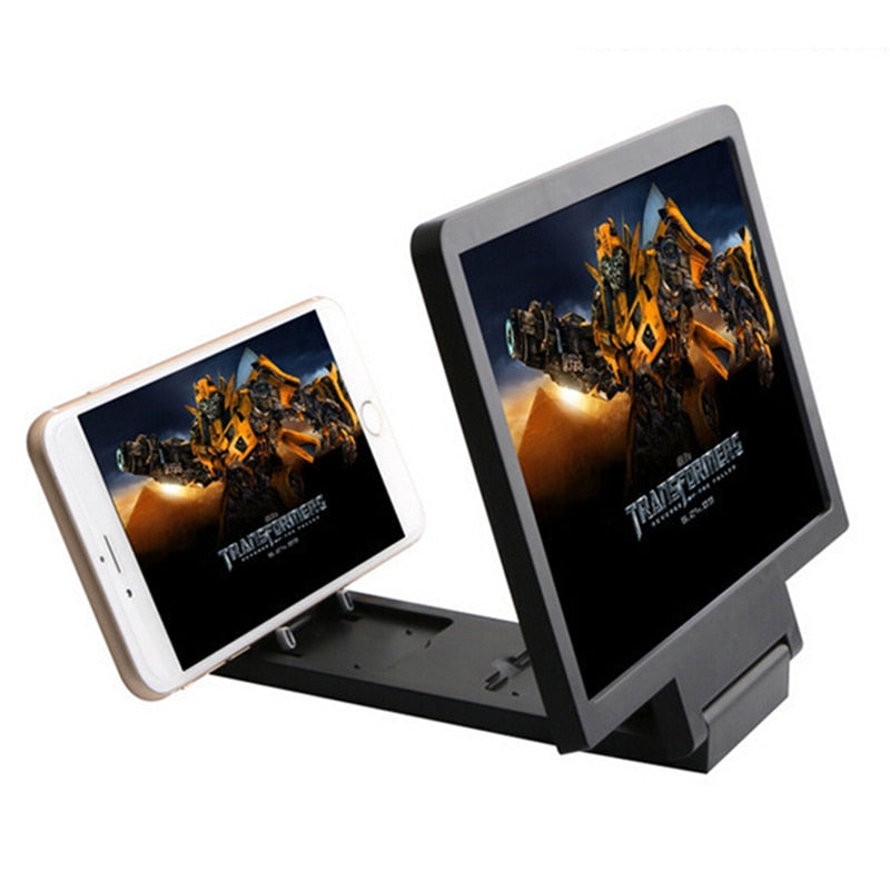 JINHF 3D Video Amplifier Folding larger Expander HD Stand for Video Mobile Phone Screen Magnifier