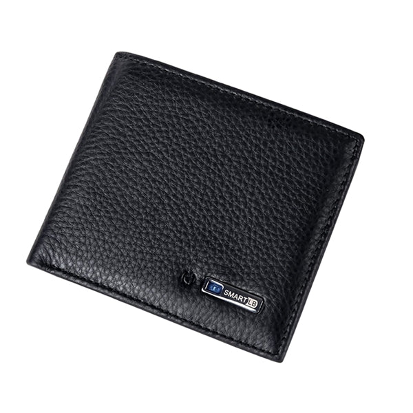 Smart Wallet Men Genuine Leather High Quality Anti Lost Intelligent