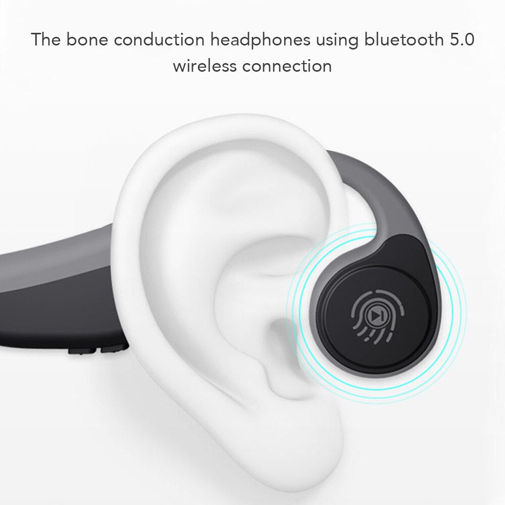Bone Conduction | Bluetooth Wireless Earphones | Outdoor Sport Headset with Microphone