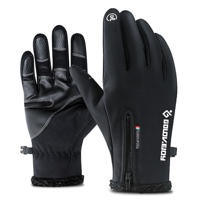 WINTER BIKING GLOVES, Cold-proof, Waterproof, Fluff Warm, Touchscreen, Windproof
