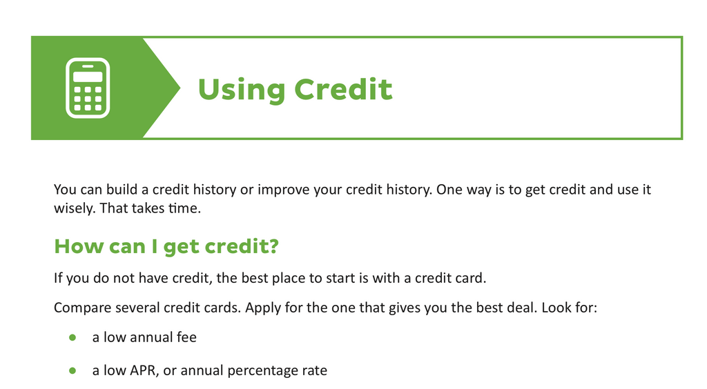 Using Your Credit - Credit With Kiara
