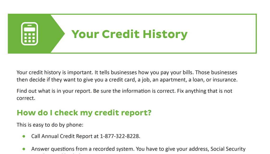 Your Credit History - Credit With Kiara