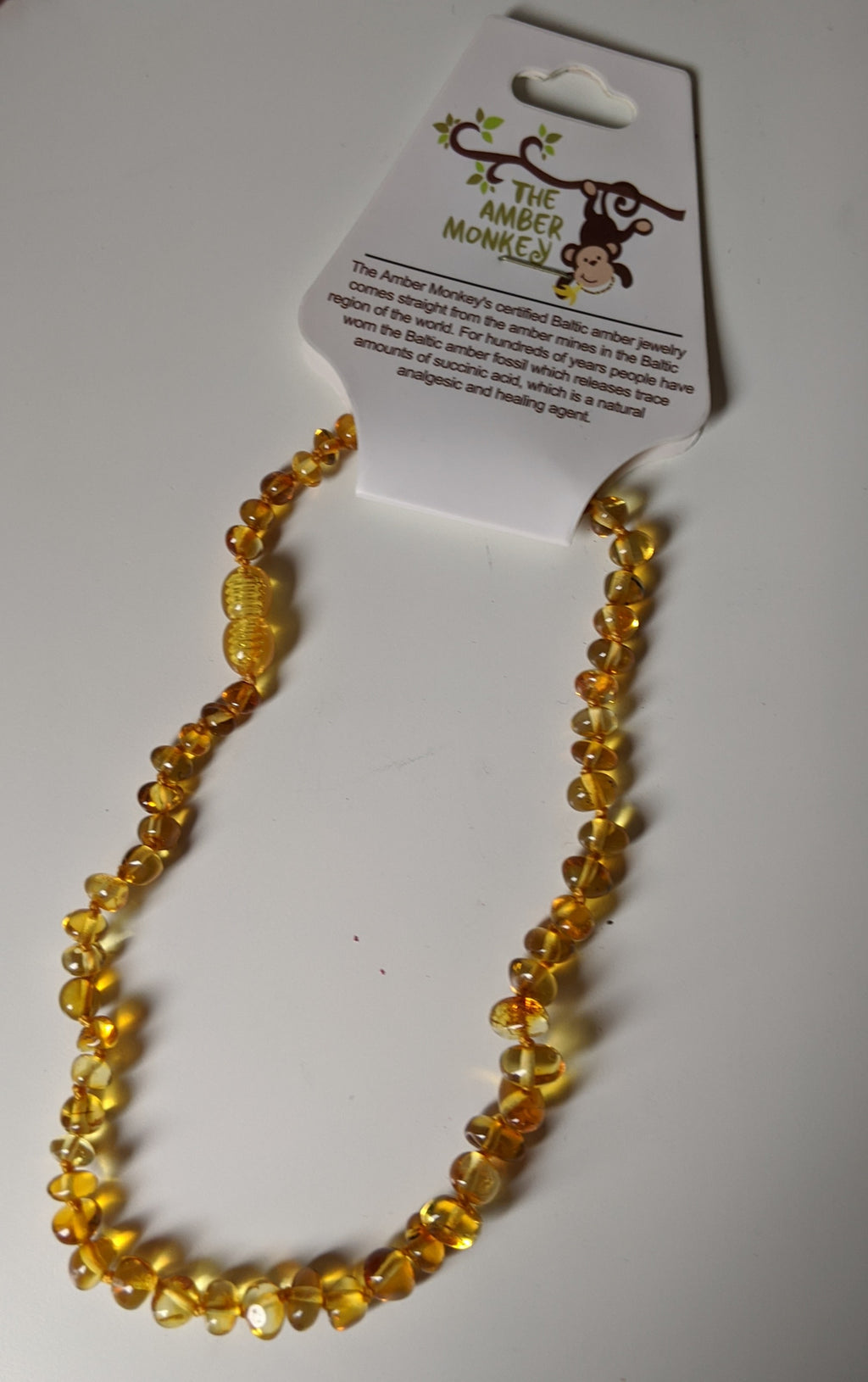 The Amber Monkey- Honey Necklace