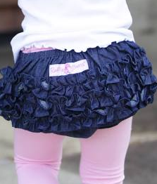 Ruffle Butts Medium Denim