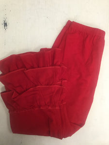 3 Tiered Red Ruffle Pants