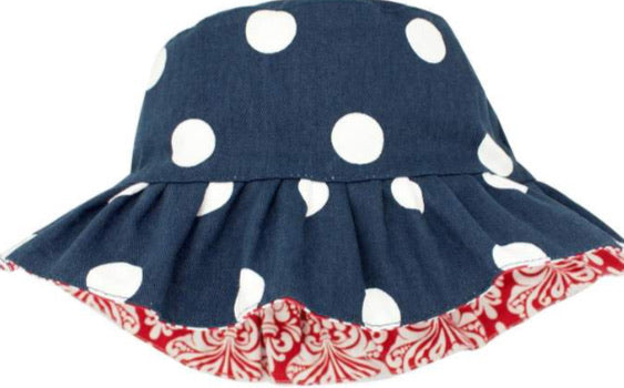 Wee Ones Reversible Polka Dot Bucket Hat