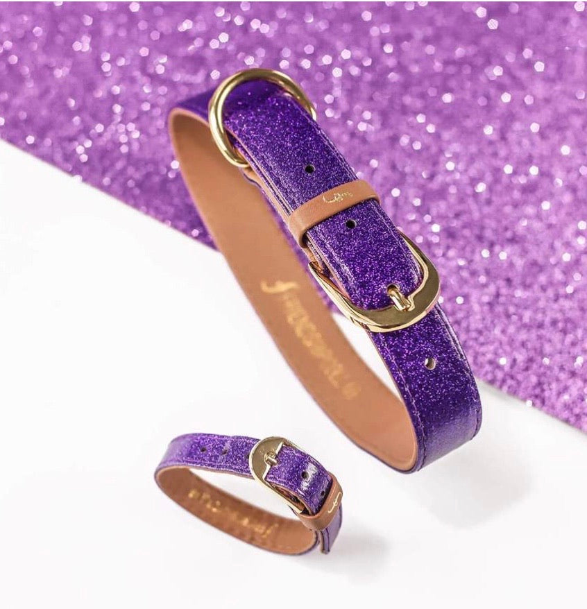 Friendship Collar- The Sparkling Pup- Glitter Purple
